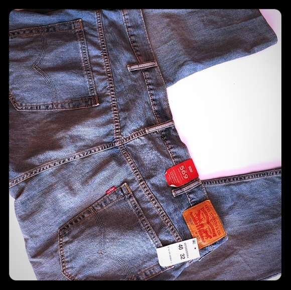 Levi's Other - NWT 569 Loose Straight Levi's 40x27 Altered Inseam